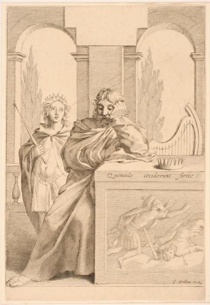 Titre-frontispice ; Roi David accoudé_0