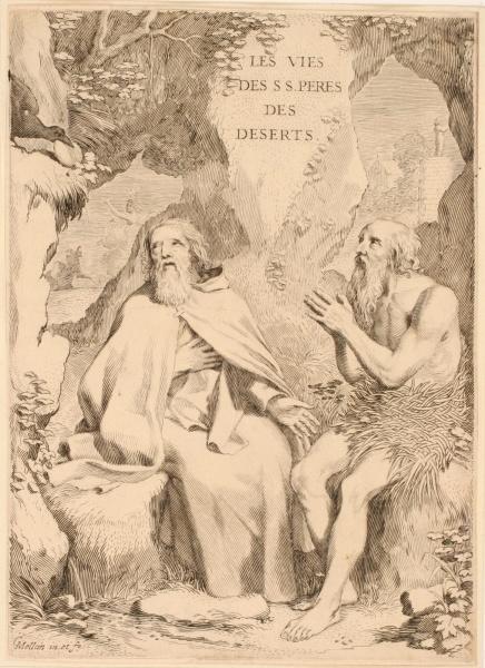 Titre-frontispice ; Saint Antoine et saint Paul