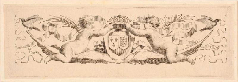 Bandeau aux armes de France et de Navarre (Bandeau dessiné pour l'Imprimerie royale)