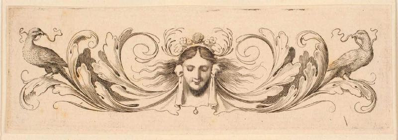 Bandeau orné d'un masque féminin