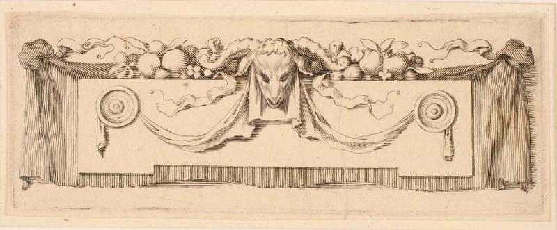 Bandeau orné d'une tête de bélier