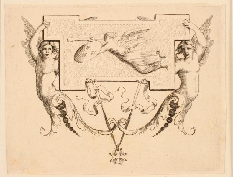 Cul-de-lampe orné de la figure de la Renommée (Cul-de-lampe dessiné pour l'Imprimerie royale)_0
