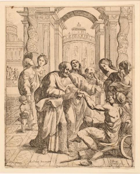Saint Pierre et saint Jean guérissant le boîteux