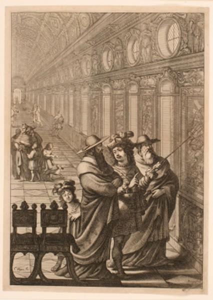 Roger et deux prélats du concile de Bâle ; La galerie du château de Fontainebleau_0