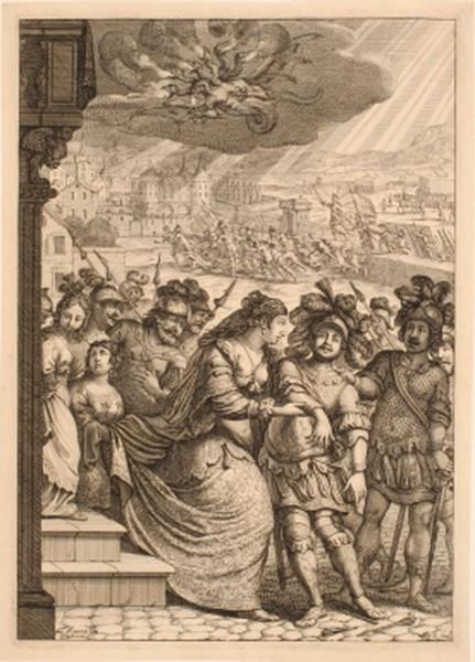 Princesse Marie venant au secours de Dunois blessé ; Siège de Paris_0