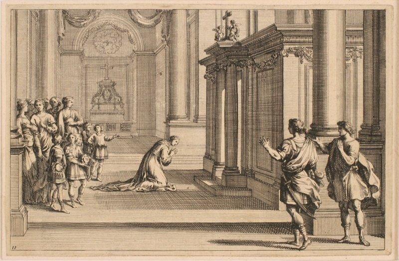 Aurèle apercevant Clotilde priant dans l'église de Vienne_0