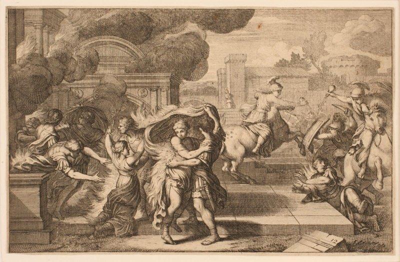 Albione et Yolande incendiant le palais de Lesois_0