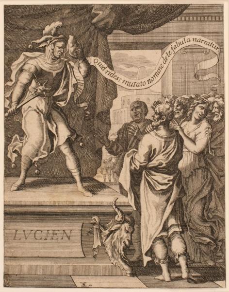Frontispice ; Lucien sous la figure de Momus
