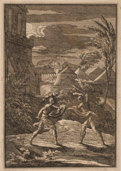 Combat nocturne de deux guerriers_0