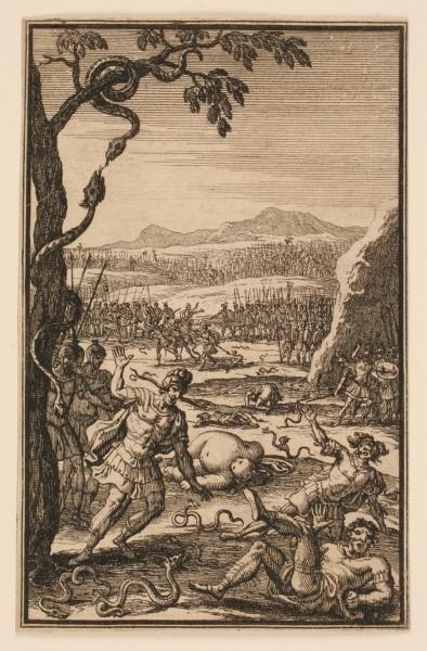 La Pharsale de Lucain : Soldats attaqués par des serpents_0