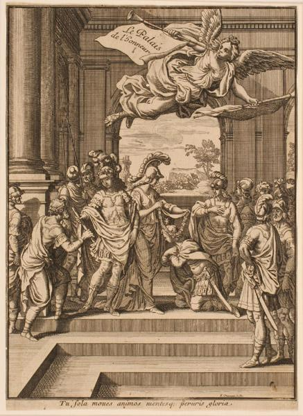 Frontispice ; Louis XIV distribuant les récompenses militaires_0
