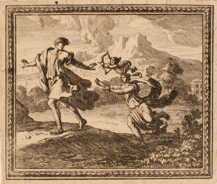 Les Métamorphoses d'Ovide : Byblis poursuivant de son amour son frère Caunus