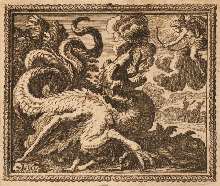 Les Métamorphoses d'Ovide : Apollon et le serpent Python_0