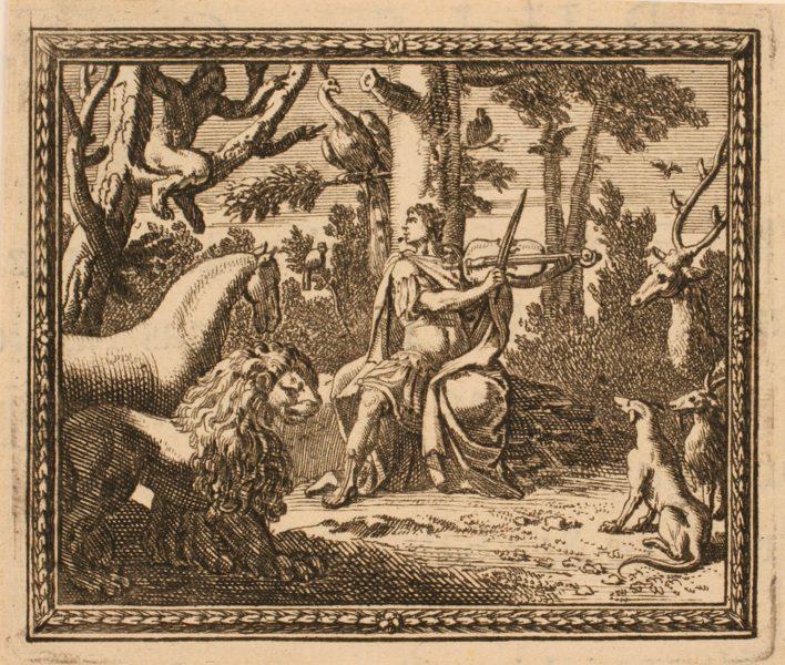 Les Métamorphoses d'Ovide : Orphée jouant parmi les animaux_0