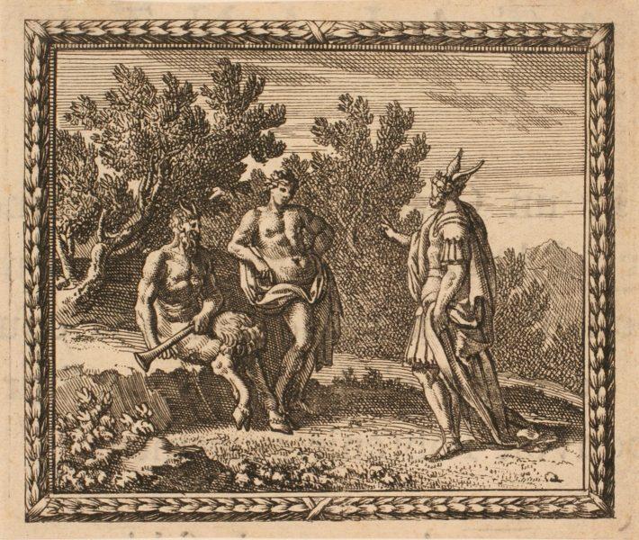Les Métamorphoses d'Ovide : Midas arbitrant le concours entre Apollon et Pan_0