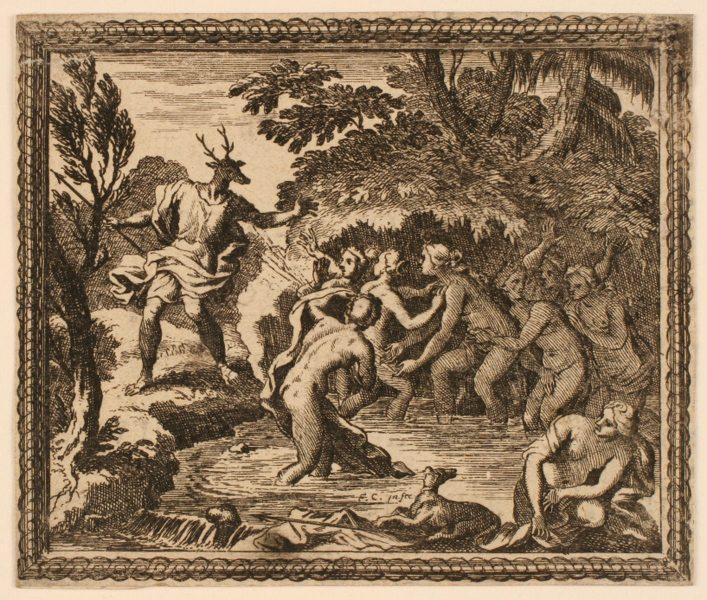 Les Métamorphoses d'Ovide : Actéon transformé en cerf_0
