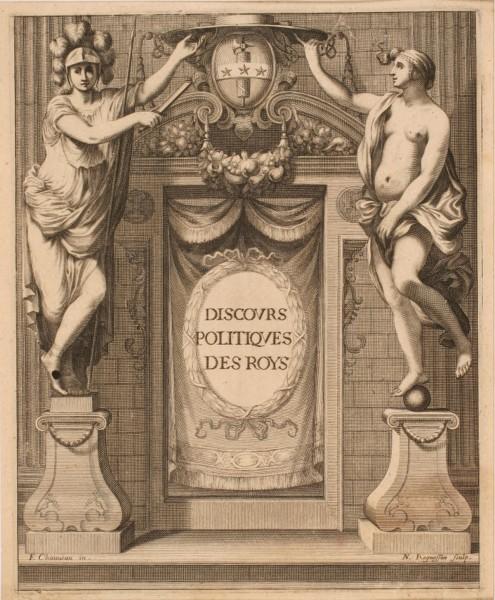 Frontispice armorié de l'ouvrage de Georges de Scudéry intitulé : Discours politique des Rois_0