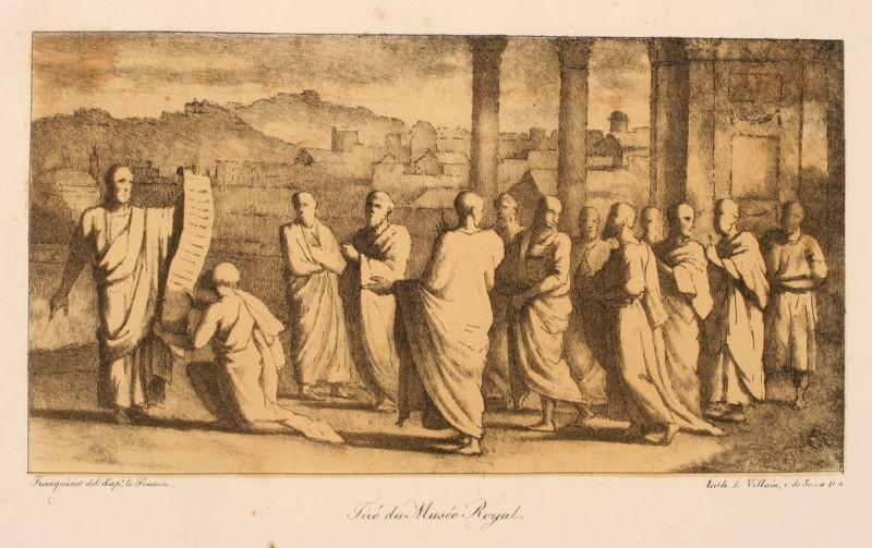 Groupe d'hommes habillés à l'antique_0