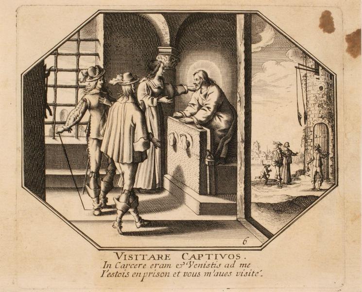 Vie du Christ (06) : VISITARE CAPTIVOS ; Christ visité en prison par trois personnes_0