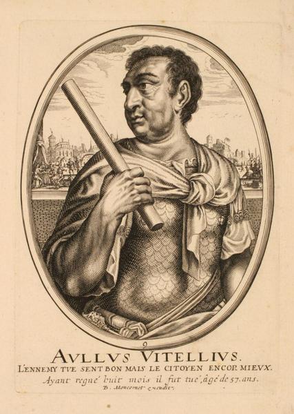 Ensemble de trois portraits d'empereurs romains : Aullus Vitellius ; Portrait d'Aullus Vitellius_0