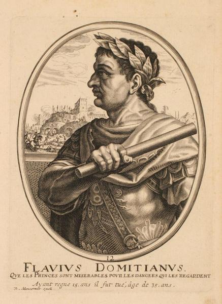 Ensemble de trois portraits d'empereurs romains : Flavius Domitianus ; Portrait de Flavius Domitianus_0