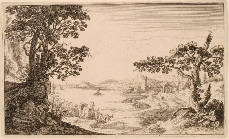 Paysage à la baie fortifiée