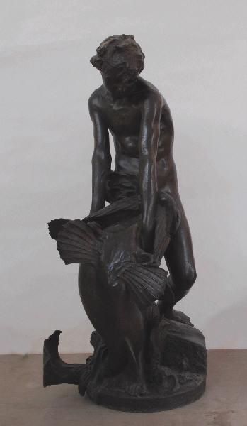 Tobie retirant le poisson de l'eau ; Jeune Homme au poisson (sur l'ordre de l'ange Raphaël (Ancien Testament, livre de Tobie, 6))_0