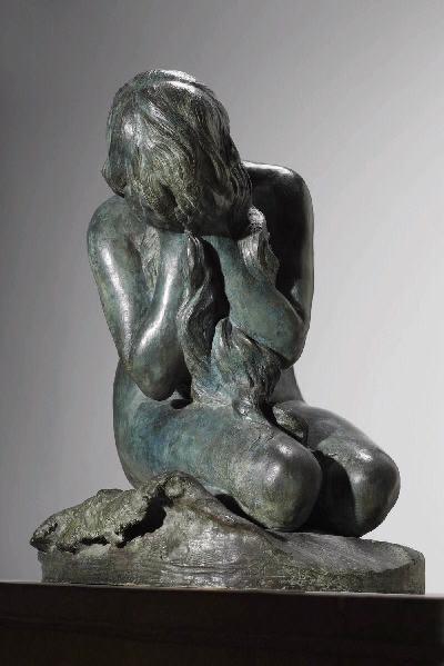 PUECH Denys (sculpteur) : Héro pleurant Léandre