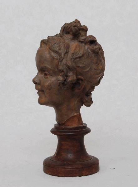 PUECH Denys (sculpteur) : Fillette riant