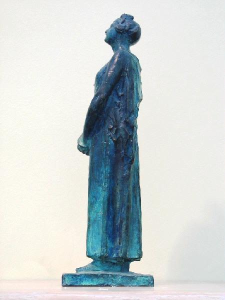 PUECH Denys (sculpteur) : Femme debout (Emma Calvé ?)