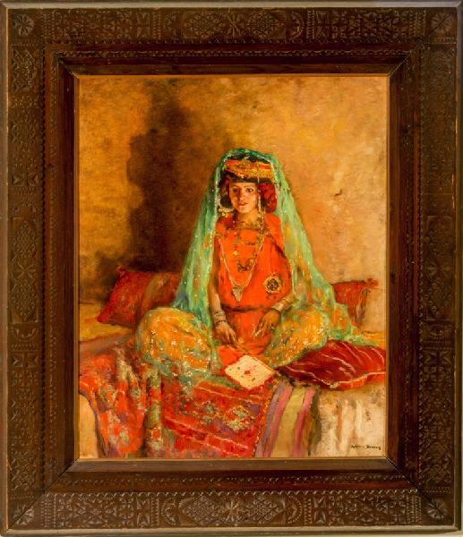 Ouled Nail de Biskra (Maurice Bompard la désigne dans ses carnets comme 'Femme jaune (Ouled Naïl Biskra)'.)_0