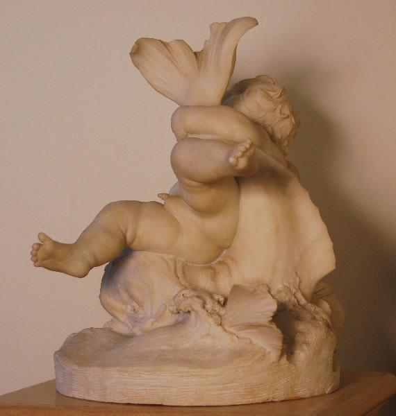 PUECH Denys (sculpteur) : Enfant au dauphin