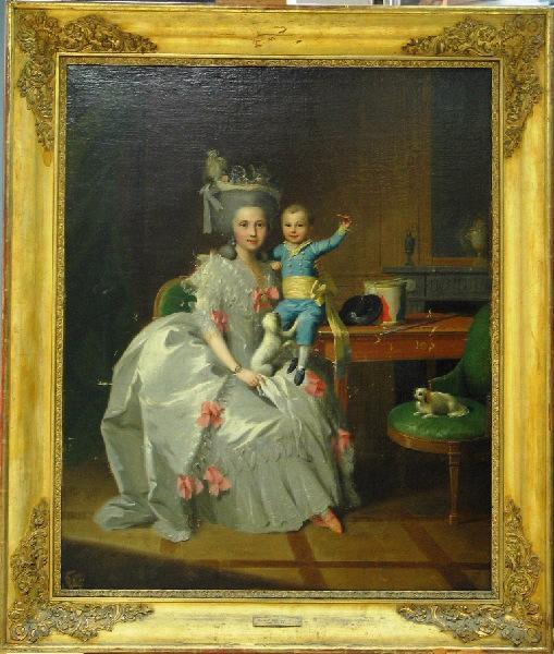 Jeune Femme noble avec son fils_0