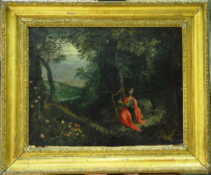 David jouant de la harpe (Le roi David chante les louanges du Seigneur et s'accompagne sur la harpe)_0