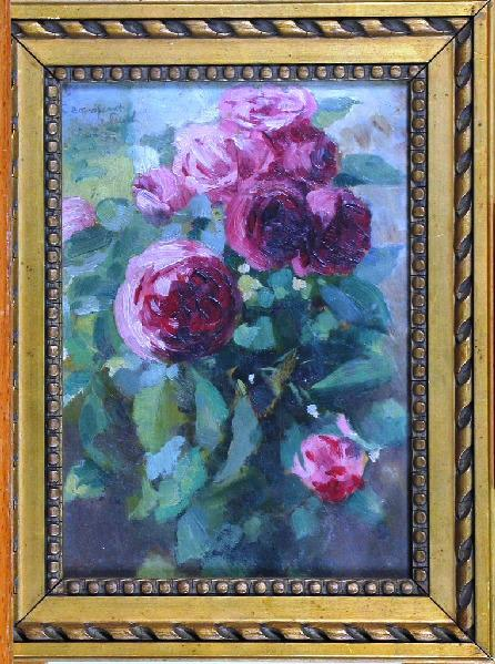 PUECH Denys (peintre) : Bouquet de fleurs