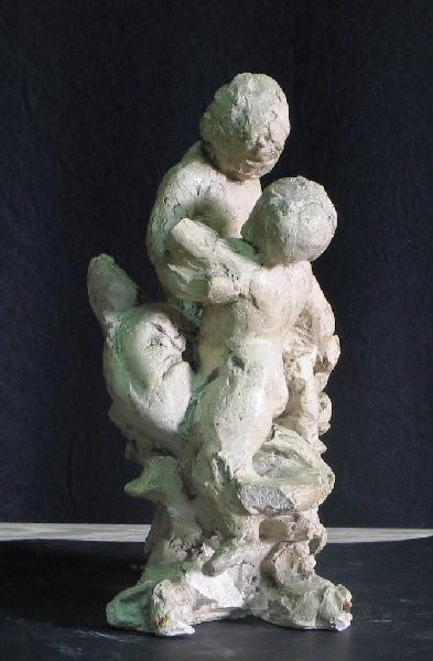 PUECH Denys (sculpteur) : Groupe d'amours sur un triton (Figure pour un surtout)