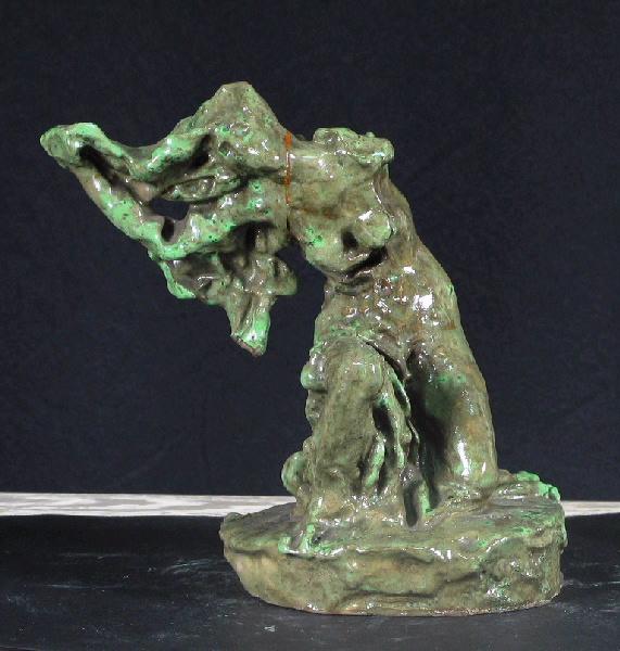 PUECH Denys (sculpteur), METTHEY André (céramiste) : Femme implorante