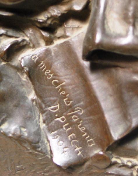 PUECH Denys (sculpteur) : Les Parents de l'artiste