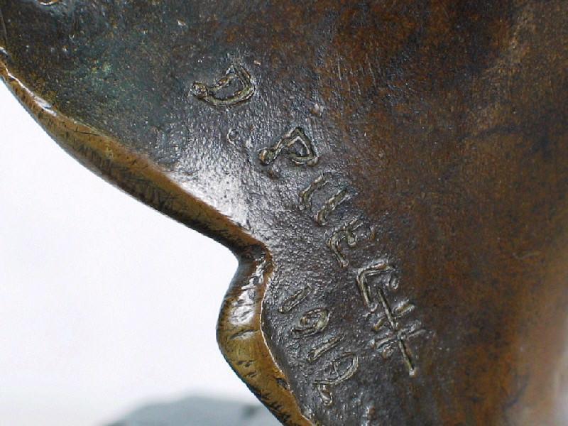 PUECH Denys (sculpteur), VALSUANI Claude (fondeur) : Tête de femme