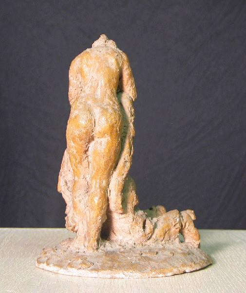 PUECH Denys (sculpteur) : La Muse du musicien des rues