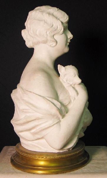 Femme au petit chien ; Portrait de Mademoiselle Fry