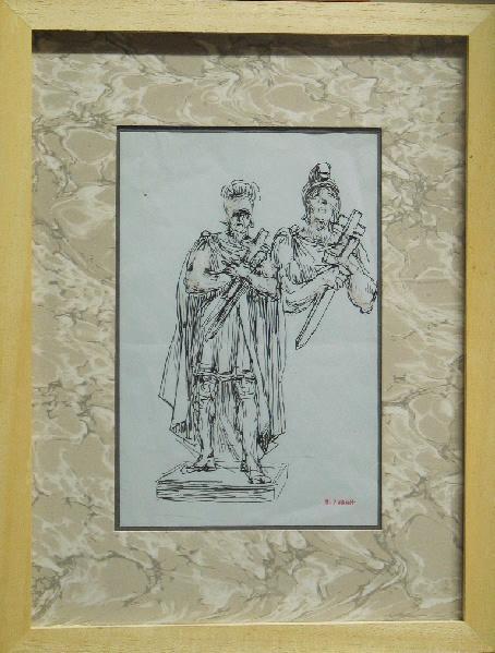 Croquis pour une sculpture représentant un soldat romain_0