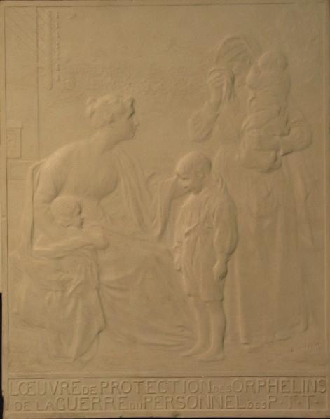PUECH Denys (sculpteur) : L'Oeuvre de protection des orphelins de la guerre du personnel du P.T.T
