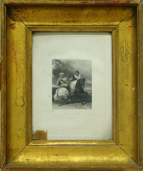 Rose Malcolm (Cavaliers à cheval, femme en croupe fuyant l'orage.)_0