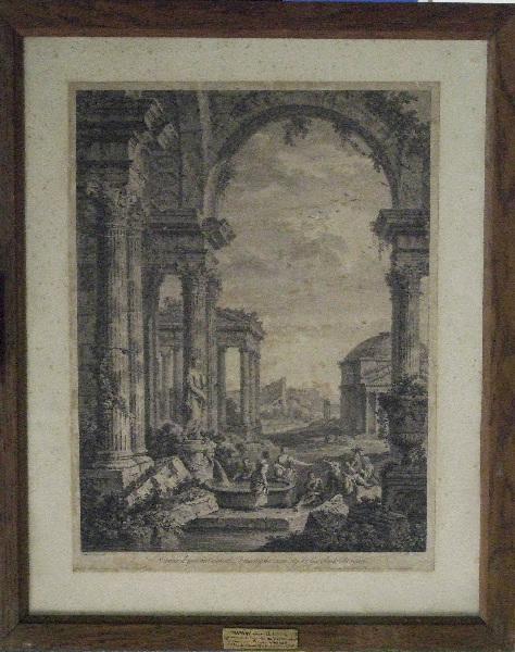 Paysage d'architecture ('architecture de ruines romaines')_0