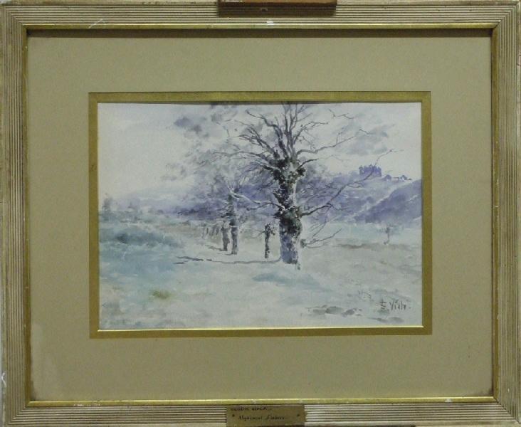 Alignement d'arbres (Château esquissé au fond)_0