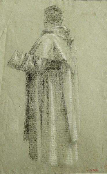 PUECH Denys (dessinateur) : Etude pour la sculpture 'Le Révérend Père Didon'