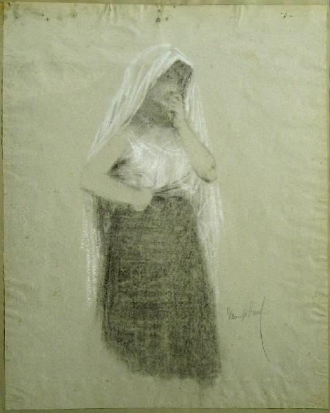 PUECH Denys (dessinateur) : Femme au voile