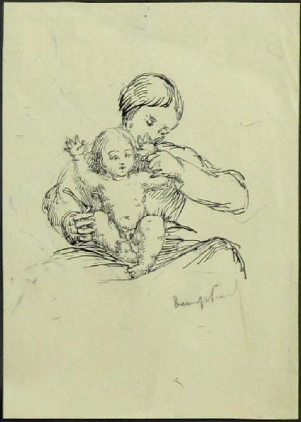 Jean-Denys Lestel (Portrait sur les genoux de sa mère)_0
