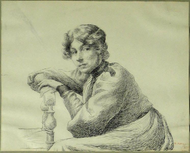 Portrait de femme (Femme accoudée)_0